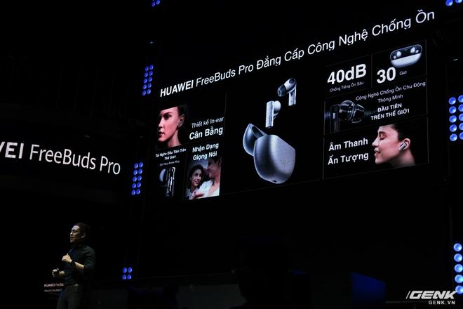 Cận cảnh tai nghe không dây Huawei FreeBuds Pro tại Việt Nam: Màu sắc đẹp mắt, chống ồn 40dB, driver 11mm, công nghệ mới giúp kết nối ổn định hơn - Ảnh 8.