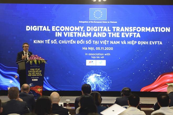 Đại sứ EU: EVFTA là nền tảng tiềm năng thúc đẩy kinh tế số và chuyển đổi số ở Việt Nam - Ảnh 1.