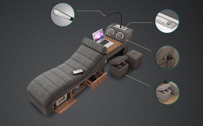 Chiếc giường trong mơ cho các thánh lười, gắn kèm cả ghế massage và hệ thống loa cực xịn sò, giá chỉ từ 65 triệu đồng - Ảnh 6.