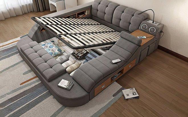 Chiếc giường trong mơ cho các thánh lười, gắn kèm cả ghế massage và hệ thống loa cực xịn sò, giá chỉ từ 65 triệu đồng - Ảnh 4.