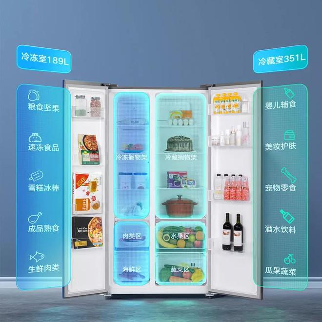 Xiaomi ra mắt tủ lạnh 540L: Hai cánh, có màn hình cảm ứng, giá 13 triệu đồng - Ảnh 2.