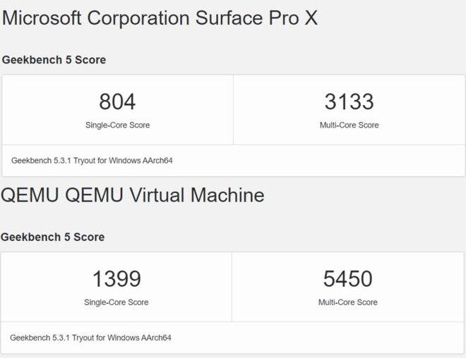 Windows 10 ARM chạy chip Apple M1 nhanh gấp gần 2 lần so với chip của Surface Pro X - Ảnh 2.