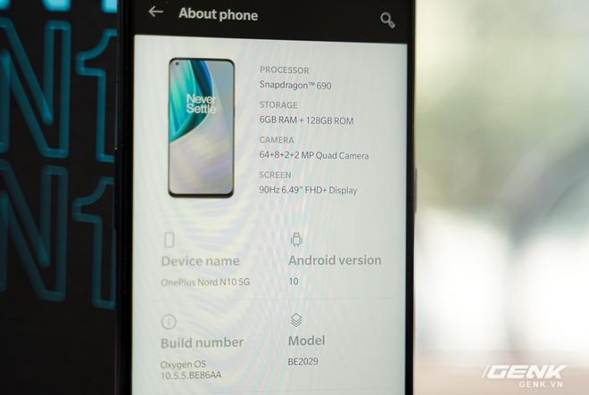Mở hộp OnePlus Nord N10 5G: Chỉ 8 triệu mà có quá nhiều thứ hay, từ 5G tới màn hình 90Hz, sạc nhanh 30W và cả loa kép - Ảnh 10.