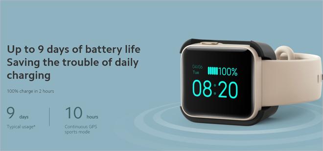 Xiaomi ra mắt Mi Watch Lite quốc tế: Pin 9 ngày, đo nhịp tim, chống nước 5ATM, giá khoảng 50 USD - Ảnh 5.