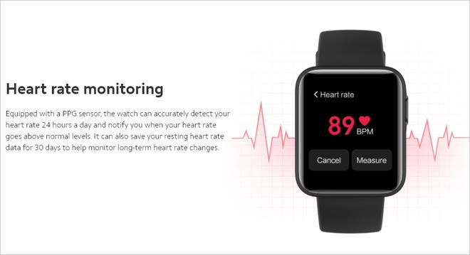 Xiaomi ra mắt Mi Watch Lite quốc tế: Pin 9 ngày, đo nhịp tim, chống nước 5ATM, giá khoảng 50 USD - Ảnh 4.