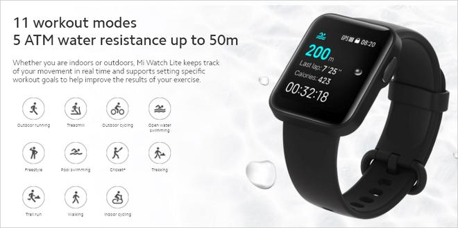 Xiaomi ra mắt Mi Watch Lite quốc tế: Pin 9 ngày, đo nhịp tim, chống nước 5ATM, giá khoảng 50 USD - Ảnh 6.