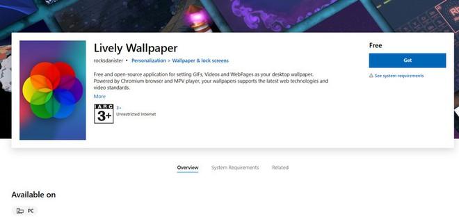 Đã có thể cài hình nền động trên Windows 10 thông qua ứng dụng trên Microsoft Store - Ảnh 2.