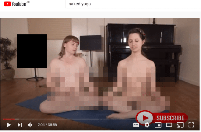 Yoga khỏa thân tràn lan trên YouTube dưới dạng nội dung giáo dục - Ảnh 3.