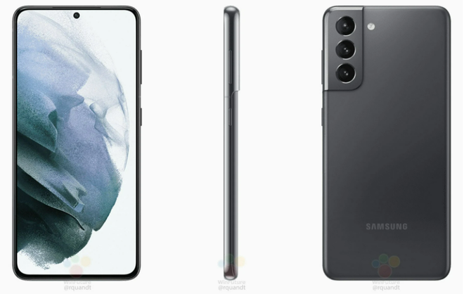 Lộ ảnh render chính thức của Galaxy S21, S21+ và S21 Ultra - Ảnh 3.
