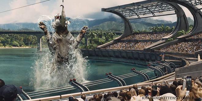Chết cười với chùm ảnh Công viên kỷ Jura nhưng khủng long được thay thế bằng mèo và chồn - Ảnh 18.