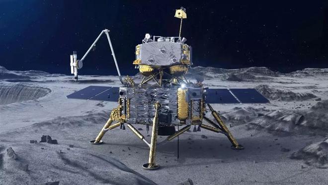 Tàu vũ trụ Hằng Nga 5 của Trung Quốc đã hạ cánh thành công xuống bề mặt Mặt trăng - Ảnh 1.