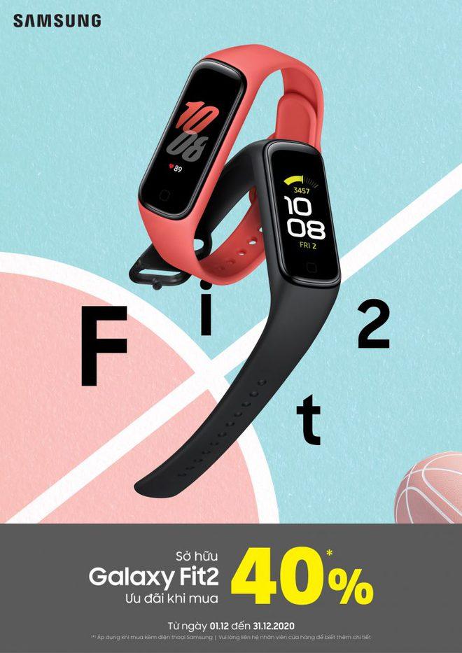 Galaxy Fit2 ra mắt tại VN: Thiết kế công thái học, pin 14 ngày, chống nước IP68, giá ưu đãi 650.000 đồng - Ảnh 4.