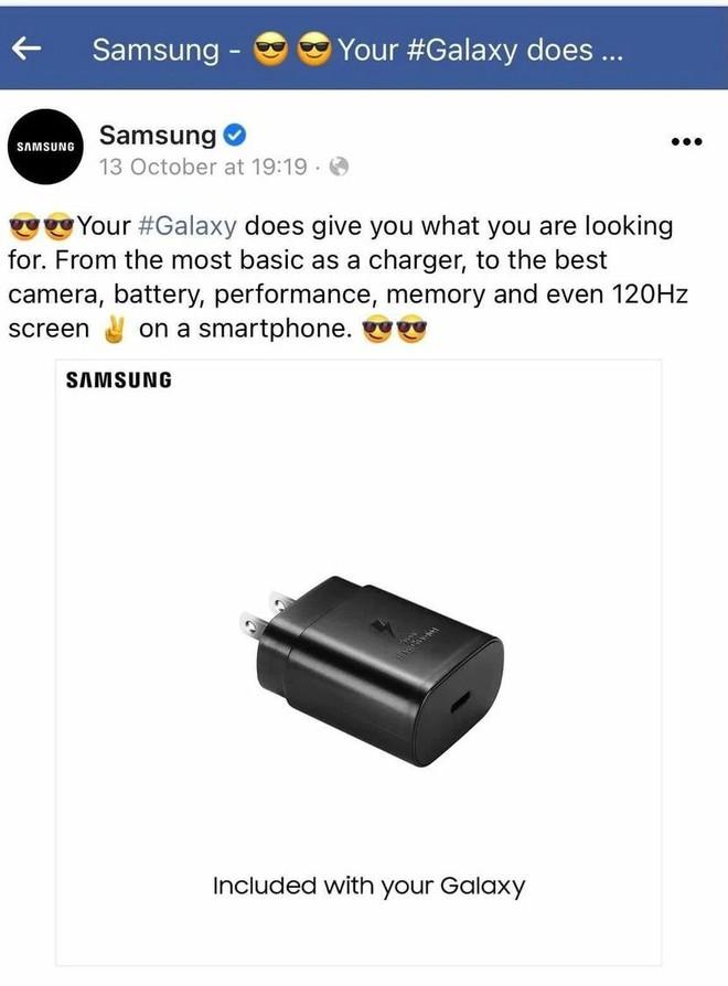 Samsung âm thầm xóa bài viết chế nhạo Apple vì bỏ củ sạc bán kèm trong hộp iPhone - Ảnh 1.