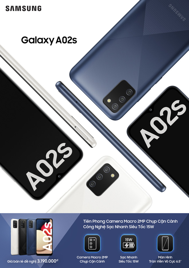 Galaxy A12 và Galaxy A02s ra mắt tại VN: Camera 48MP chụp cận cảnh, pin khủng 5000mAh, giá từ 3.2 triệu đồng - Ảnh 4.