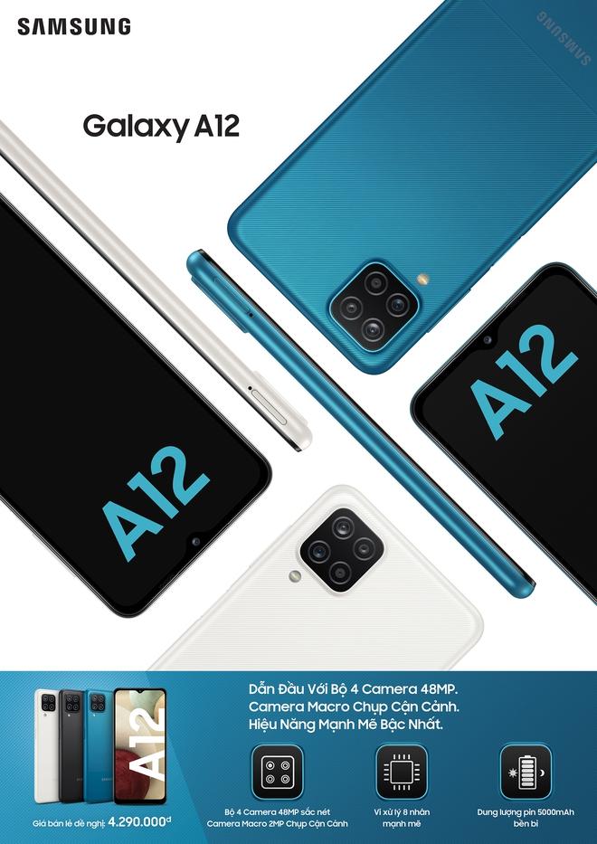 Galaxy A12 và Galaxy A02s ra mắt tại VN: Camera 48MP chụp cận cảnh, pin khủng 5000mAh, giá từ 3.2 triệu đồng - Ảnh 3.