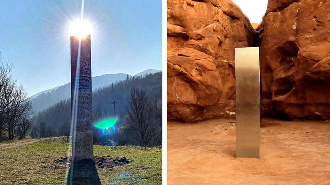 Thêm một khối kim loại bí ẩn xuất hiện trên đỉnh núi ở California, chuyện gì đang xảy ra? - Ảnh 2.