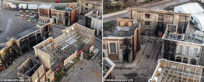Mời bạn tham quan phim trường The Batman: Hoá ra thành phố Gotham được tạo ra công phu như thế này đây - Ảnh 2.
