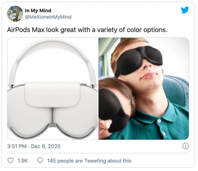 AirPods Max vừa ra mắt đã bị chế meme tơi tả bởi chiếc case quá giống áo ngực phụ nữ - Ảnh 2.