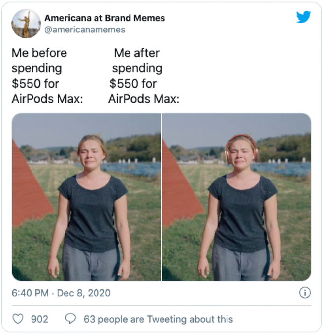 AirPods Max vừa ra mắt đã bị chế meme tơi tả bởi chiếc case quá giống áo ngực phụ nữ - Ảnh 7.