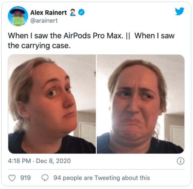 AirPods Max vừa ra mắt đã bị chế meme tơi tả bởi chiếc case quá giống áo ngực phụ nữ - Ảnh 9.