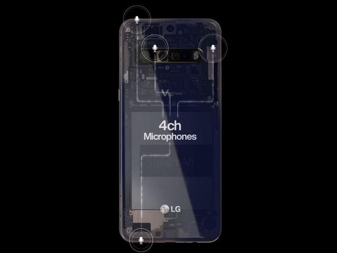 Ảnh quảng cáo cho thấy LG V60 ThinQ sẽ có 4 camera và pin lên tới 5000mAh - Ảnh 1.