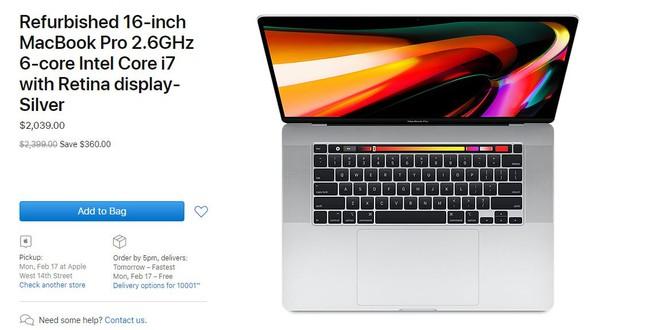 Apple vừa đưa MacBook Pro 16 inch mới nhất vào gian hàng refurbished, giá bán giảm gần 400 USD - Ảnh 1.