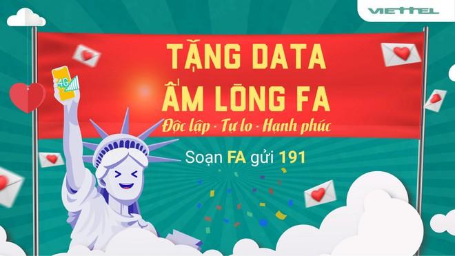 Mừng lễ Valentine, Viettel tặng 1402MB dung lượng 4G an ủi hội FA - Ảnh 1.