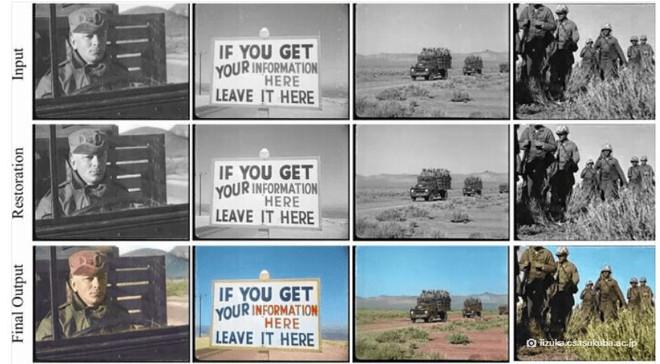 Công nghệ AI giờ đây đã có thể phục chế màu sắc một cách hoàn hảo cho những đoạn video đen trắng cũ rích - Ảnh 2.