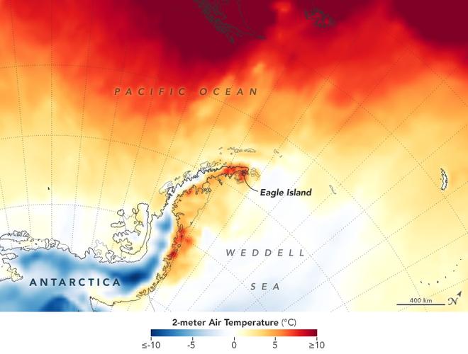 NASA ghi lại hình ảnh chỏm băng ở Nam Cực tan chảy trong đợt nóng kỷ lục vừa qua - Ảnh 2.