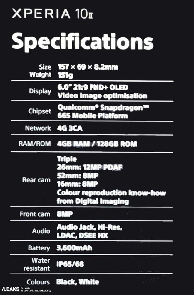 Sony Xperia 1 II lộ diện: Màn hình OLED 21:9, 4 camera ZEISS, chip Snapdragon 865 - Ảnh 5.