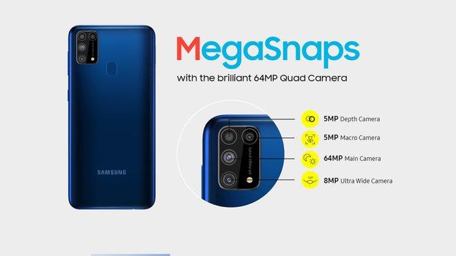 Galaxy M31 ra mắt: 4 camera 64MP, pin 6000mAh, giá từ 4.9 triệu đồng - Ảnh 2.