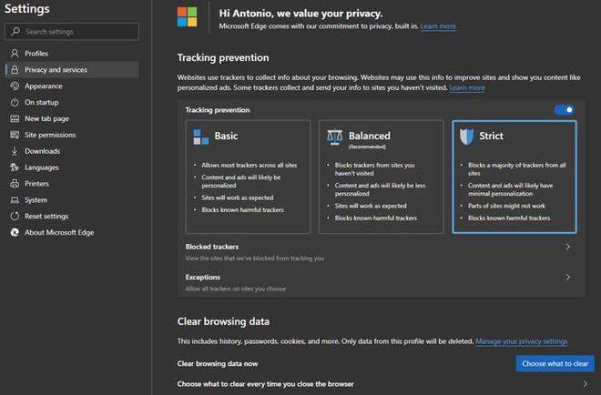 Thêm một tính năng khác mà Google Chrome cần học hỏi Edge mới của Microsoft: chặn tracker chỉ bằng một click chuột - Ảnh 2.