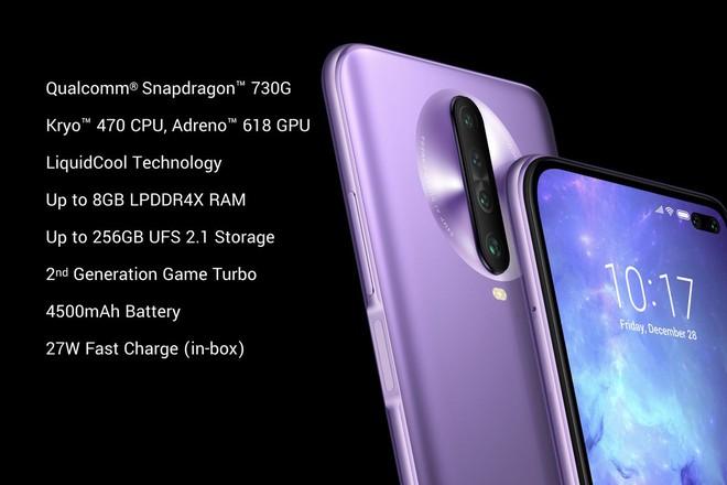 POCO X2 chính thức ra mắt: Màn hình 120Hz, chip SD 730G, RAM 8GB, pin 4.500 mAh, giá bán từ 225 USD - Ảnh 2.
