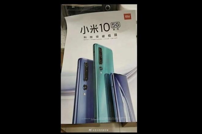 Lộ thiết kế Xiaomi Mi 10 qua poster quảng cáo - Ảnh 1.