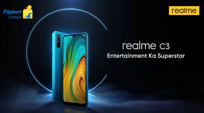 Kết quả hình ảnh cho Realme C3 ra mắt: Helio G70, camera kép, pin 5000mAh, giá từ 2.3 triệu đồng
