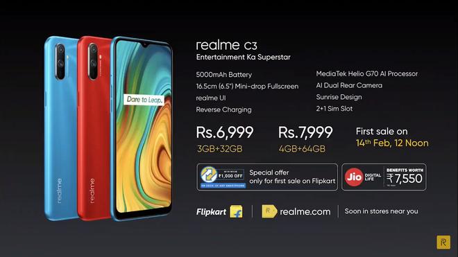 Realme C3 ra mắt: Helio G70, camera kép, pin 5000mAh, giá từ 2.3 triệu đồng - Ảnh 6.