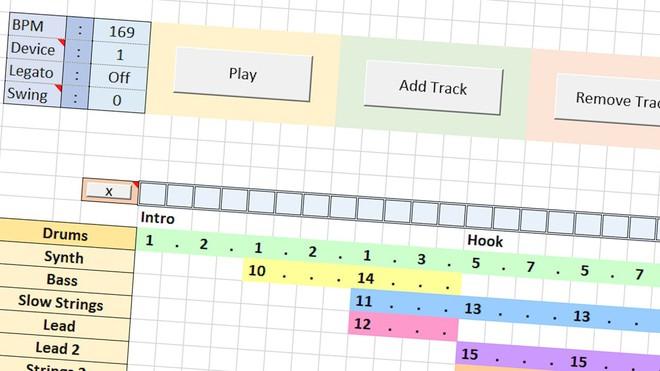 Giờ đây, bạn đã có thể làm nhạc trên Excel như trên các phần mềm làm nhạc chuyên nghiệp - Ảnh 4.