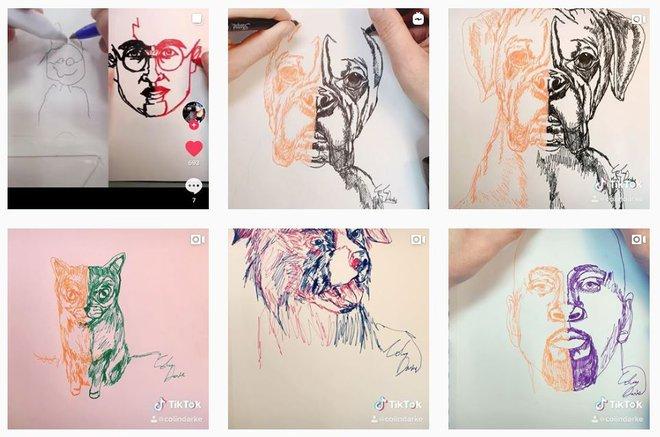 Anh họa sĩ 2 tay 2 bút vẽ tranh ngon lành, truyền nhân môn võ Song thủ hổ bác trong truyện Kim Dung là đây chứ đâu - Ảnh 3.