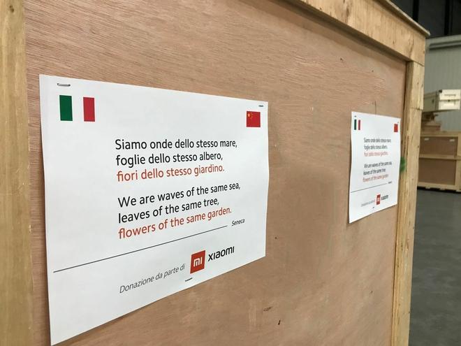 Xiaomi quyên tặng khẩu trang cho Italy giữa thời điểm COVID-19 bùng phát - Ảnh 1.