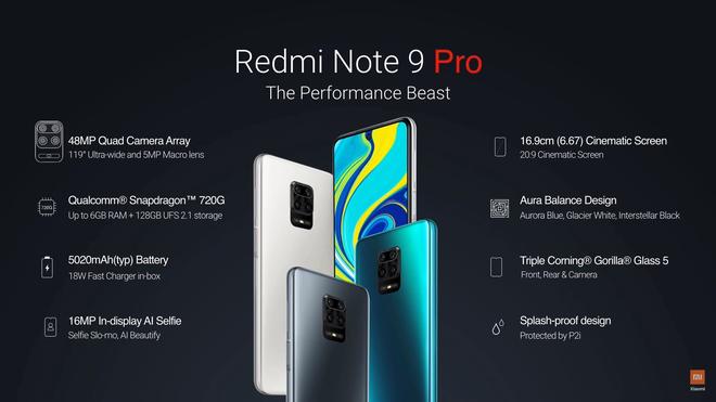 Redmi Note 9 Pro Max ra mắt: Snapdragon 720G, camera 64MP, pin 5020mAh, sạc nhanh 33W, giá bằng 1/5 iPhone 11 Pro Max - Ảnh 4.