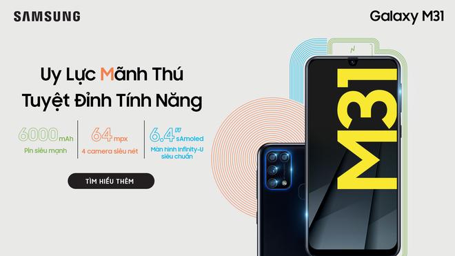 Galaxy M31 ra mắt tại Việt Nam: Camera 64MP, RAM 6GB, pin 6000 mAh, giá 6.49 triệu đồng - Ảnh 1.