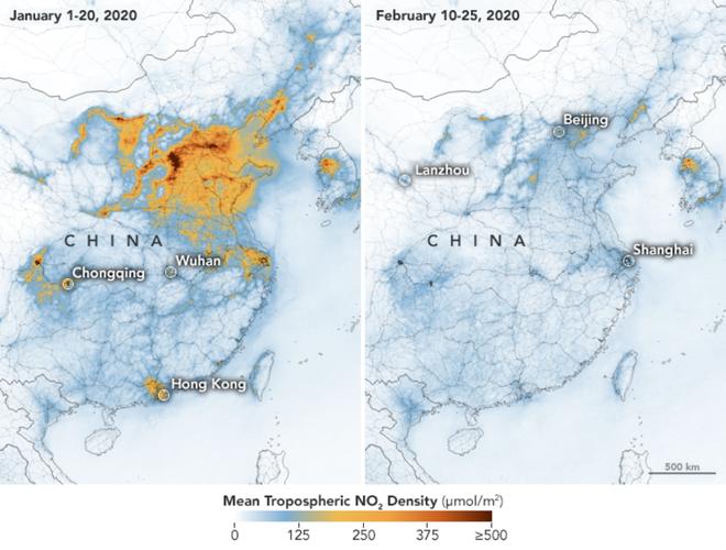 Lượng khí thải nhà kính tại Trung Quốc sụt giảm đáng kể, sau khi dịch bệnh virus Covid-19 bùng phát - Ảnh 1.