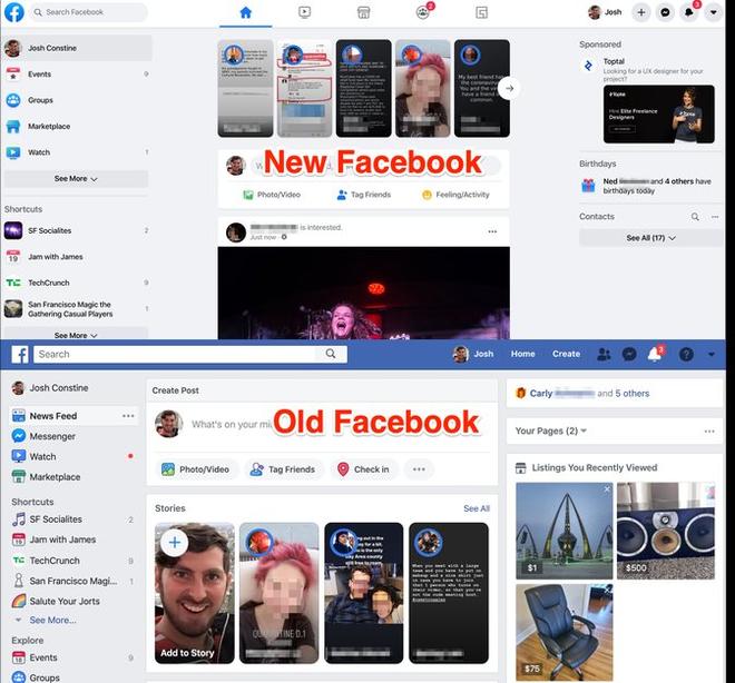 Facebook bắt đầu mời người dùng sử dụng giao diện mới - Ảnh 2.