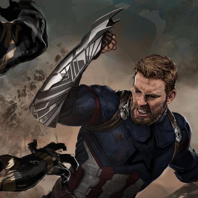 Bản vẽ concept Infinity War cho thấy đáng lẽ Cap sở hữu chiếc khiên vừa ngầu lòi, vừa nguy hiểm chết người thế này đây - Ảnh 4.