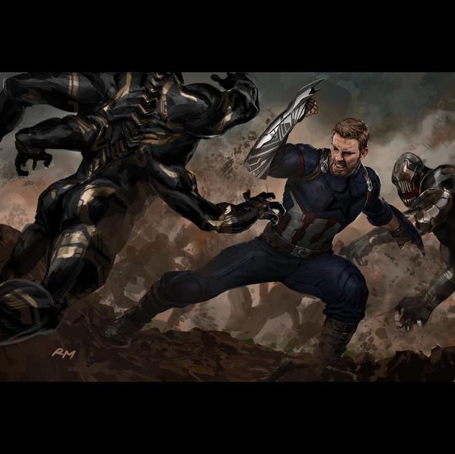 Bản vẽ concept Infinity War cho thấy đáng lẽ Cap sở hữu chiếc khiên vừa ngầu lòi, vừa nguy hiểm chết người thế này đây - Ảnh 3.