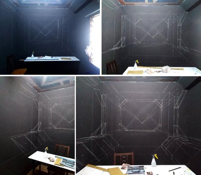 Khéo tay hay làm: Anh họa sĩ hô biến căn phòng thành khoang tàu vũ trụ cho con gái chơi khi ở nhà tránh Covid-19 - Ảnh 5.