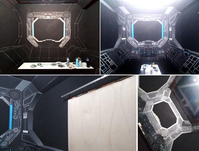 Khéo tay hay làm: Anh họa sĩ hô biến căn phòng thành khoang tàu vũ trụ cho con gái chơi khi ở nhà tránh Covid-19 - Ảnh 6.
