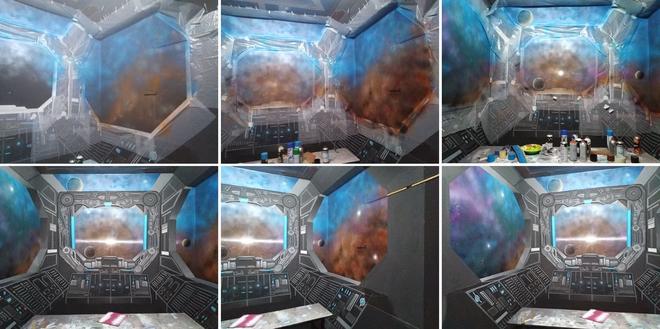 Khéo tay hay làm: Anh họa sĩ hô biến căn phòng thành khoang tàu vũ trụ cho con gái chơi khi ở nhà tránh Covid-19 - Ảnh 8.