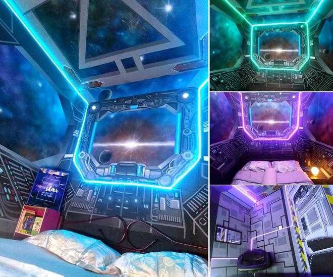 Khéo tay hay làm: Anh họa sĩ hô biến căn phòng thành khoang tàu vũ trụ cho con gái chơi khi ở nhà tránh Covid-19 - Ảnh 10.