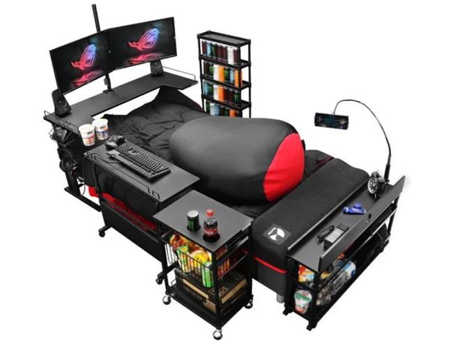 Công ty Nhật Bản ra mắt mẫu giường gaming độc đáo giúp người dùng vừa nằm vừa cày game thoải mái, giá từ 7 triệu đồng - Ảnh 3.